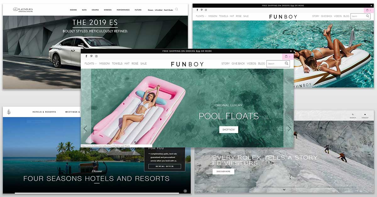 luxury competitor sites
